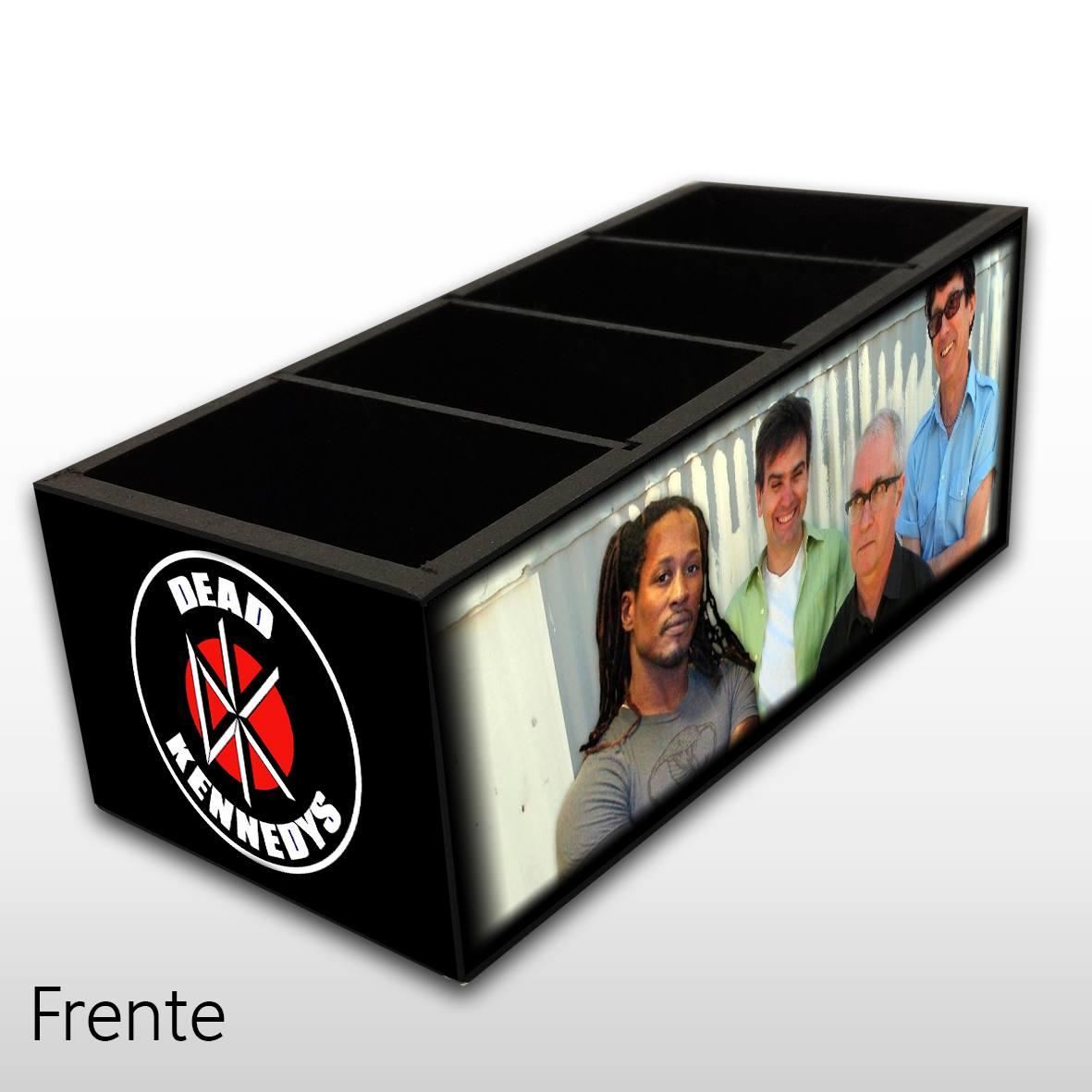 Dead Kennedys - Porta Controles em Madeira MDF - 4 Espaços - Mr. Rock