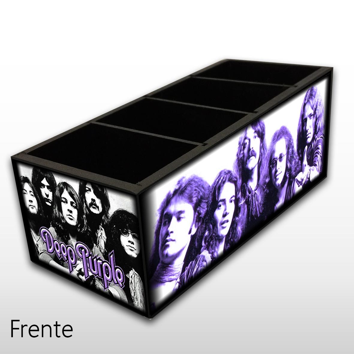 Deep Purple - Porta Controles em Madeira MDF - 4 Espaços - Mr. Rock
