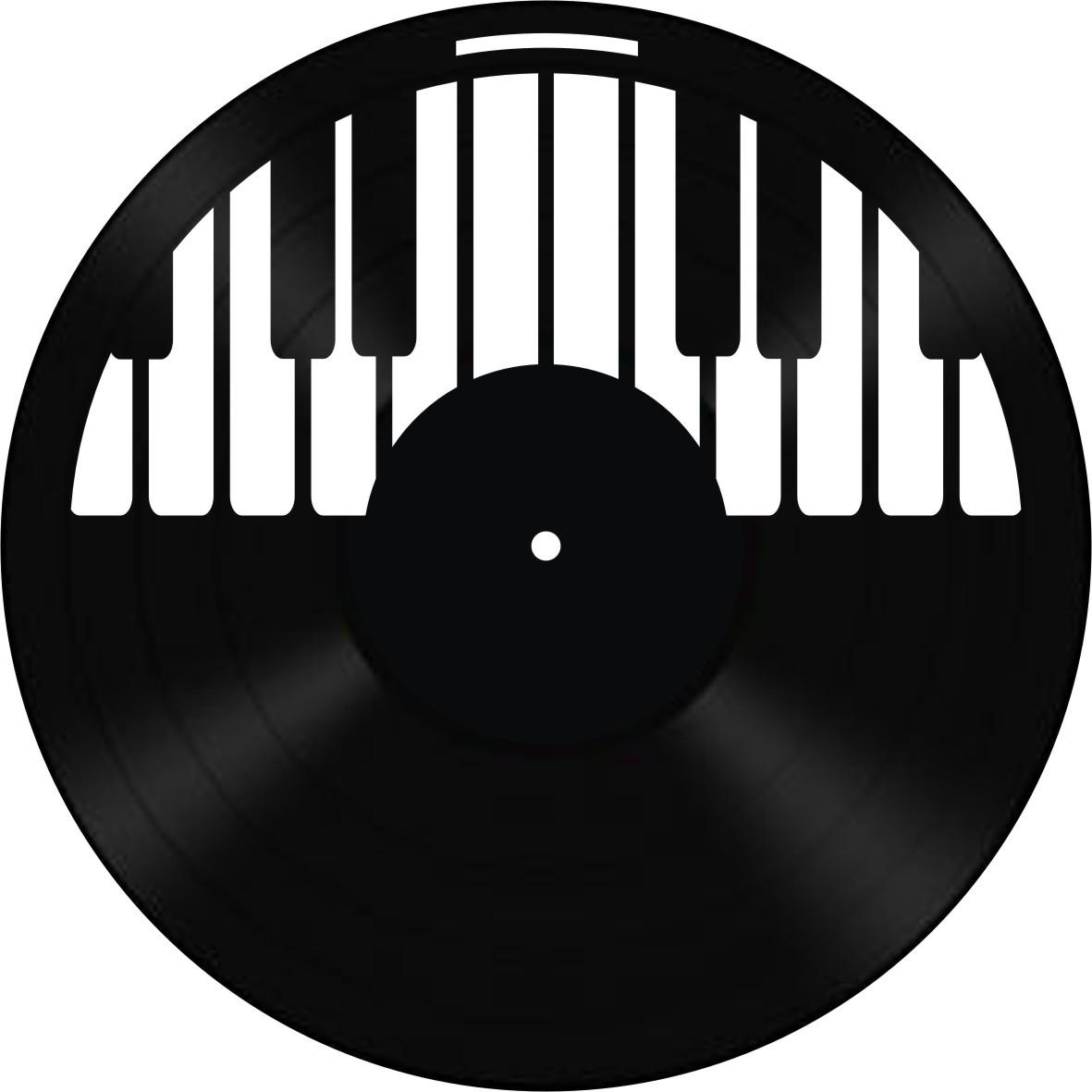Disco de Vinil Decorativo Piano