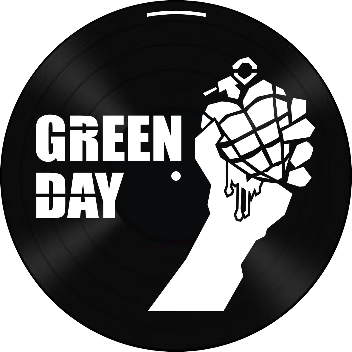 Disco de Vinil Decorativo Green Day