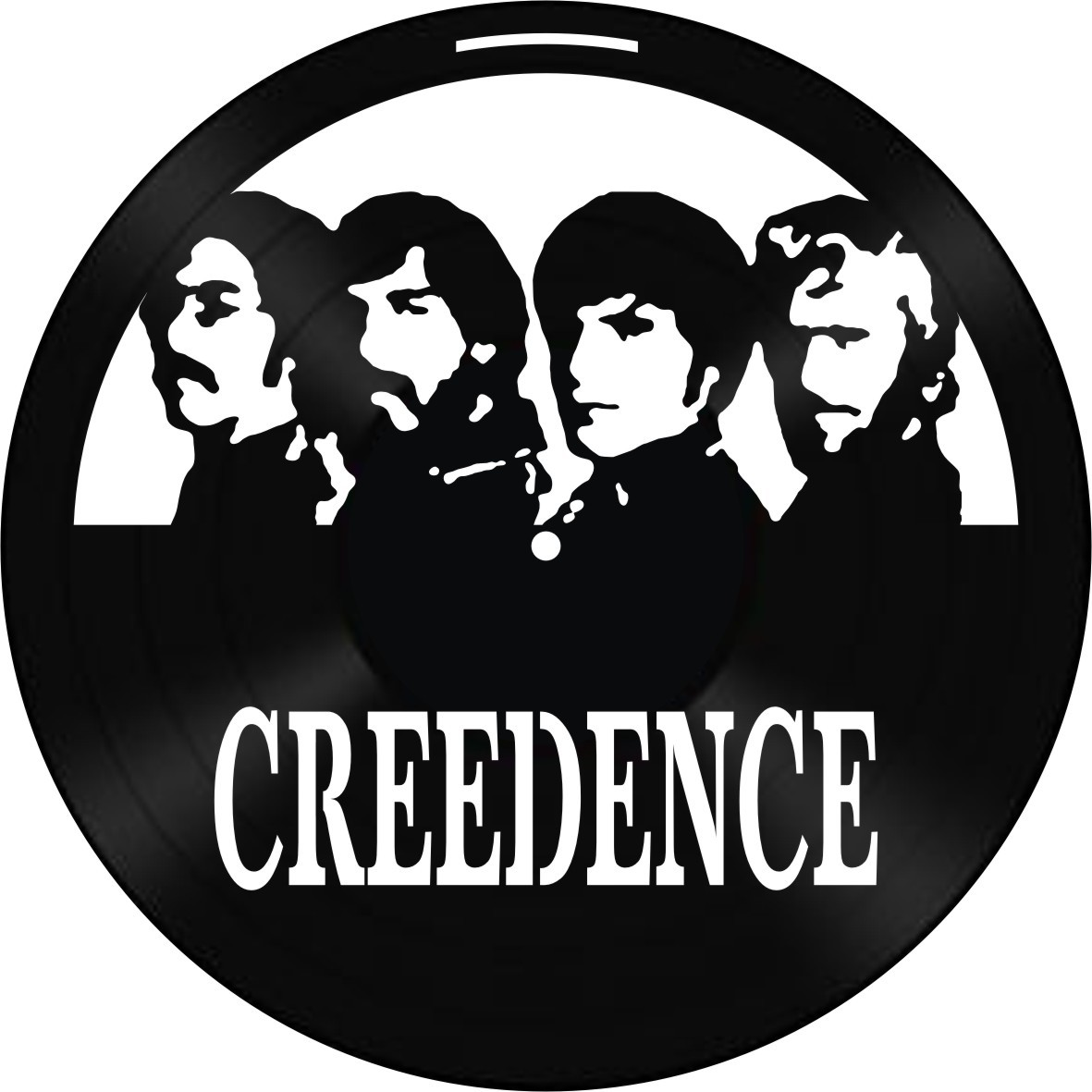 Disco de Vinil Decorativo Creedence Clearwater