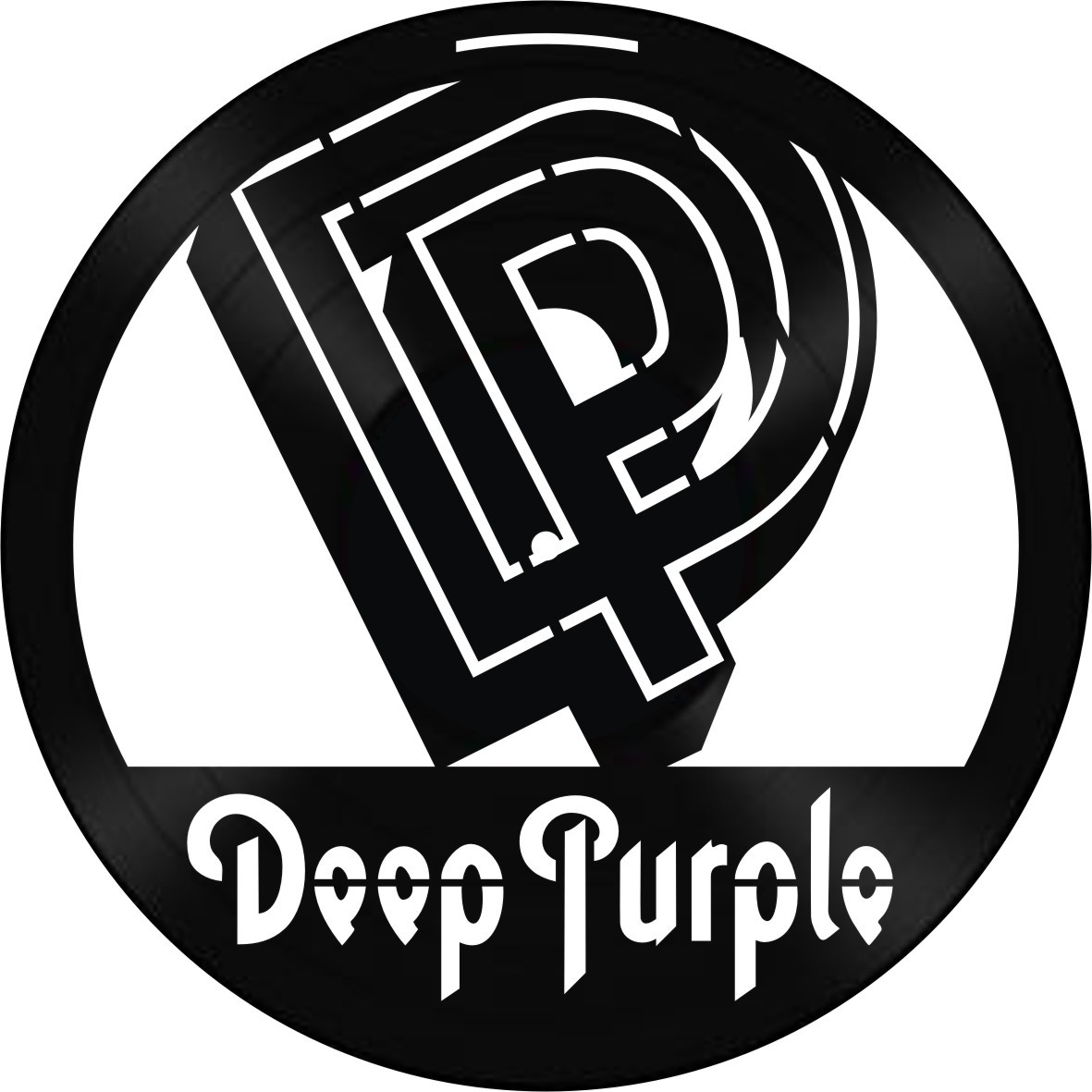 Disco de Vinil Decorativo Deep Purple