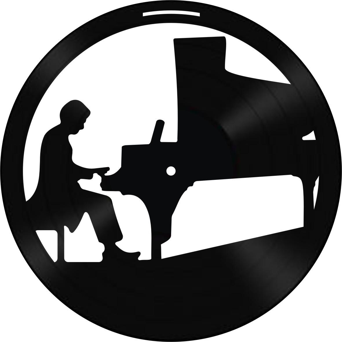 Disco de Vinil Decorativo Pianista