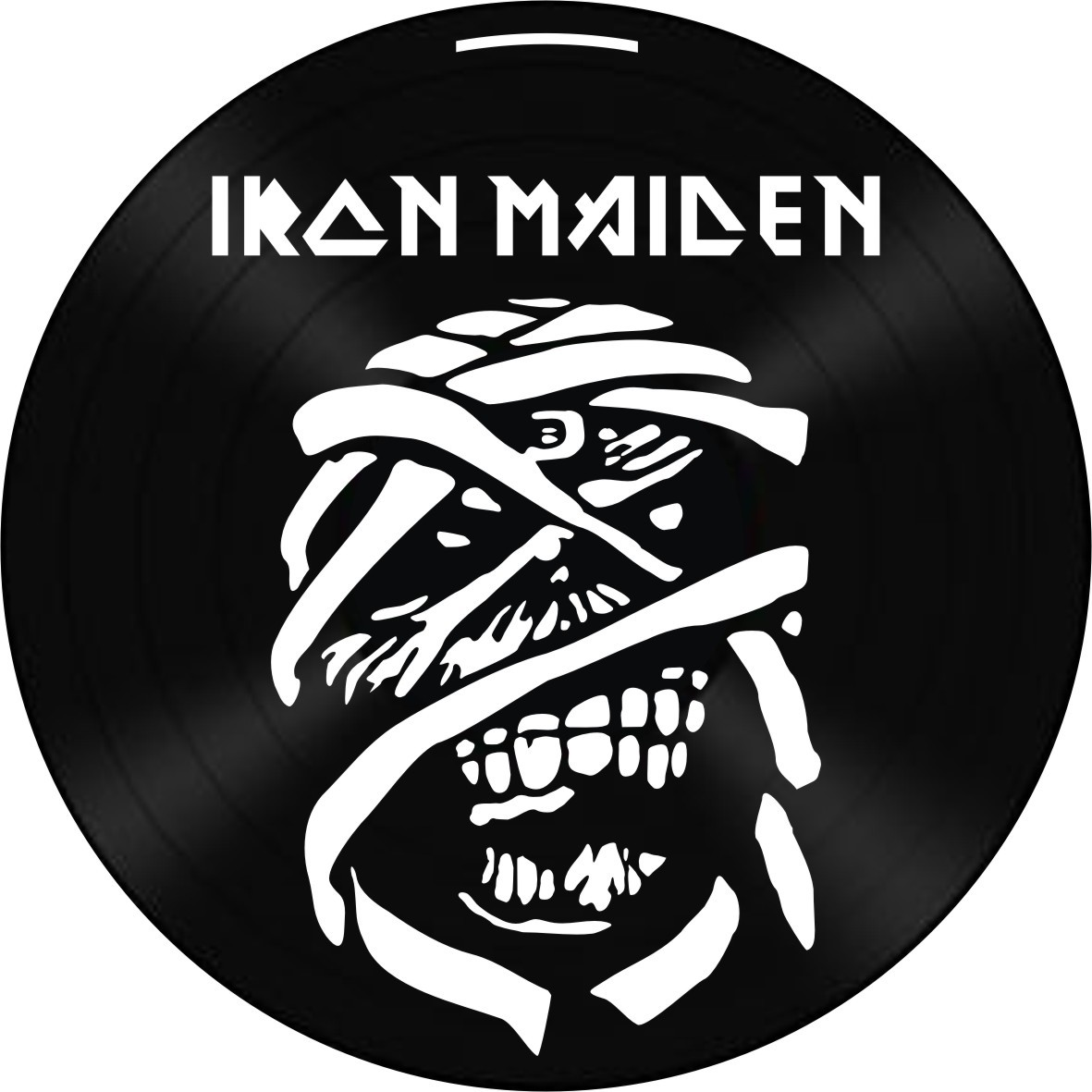 Disco de Vinil Decorativo Iron Maiden The Trooper