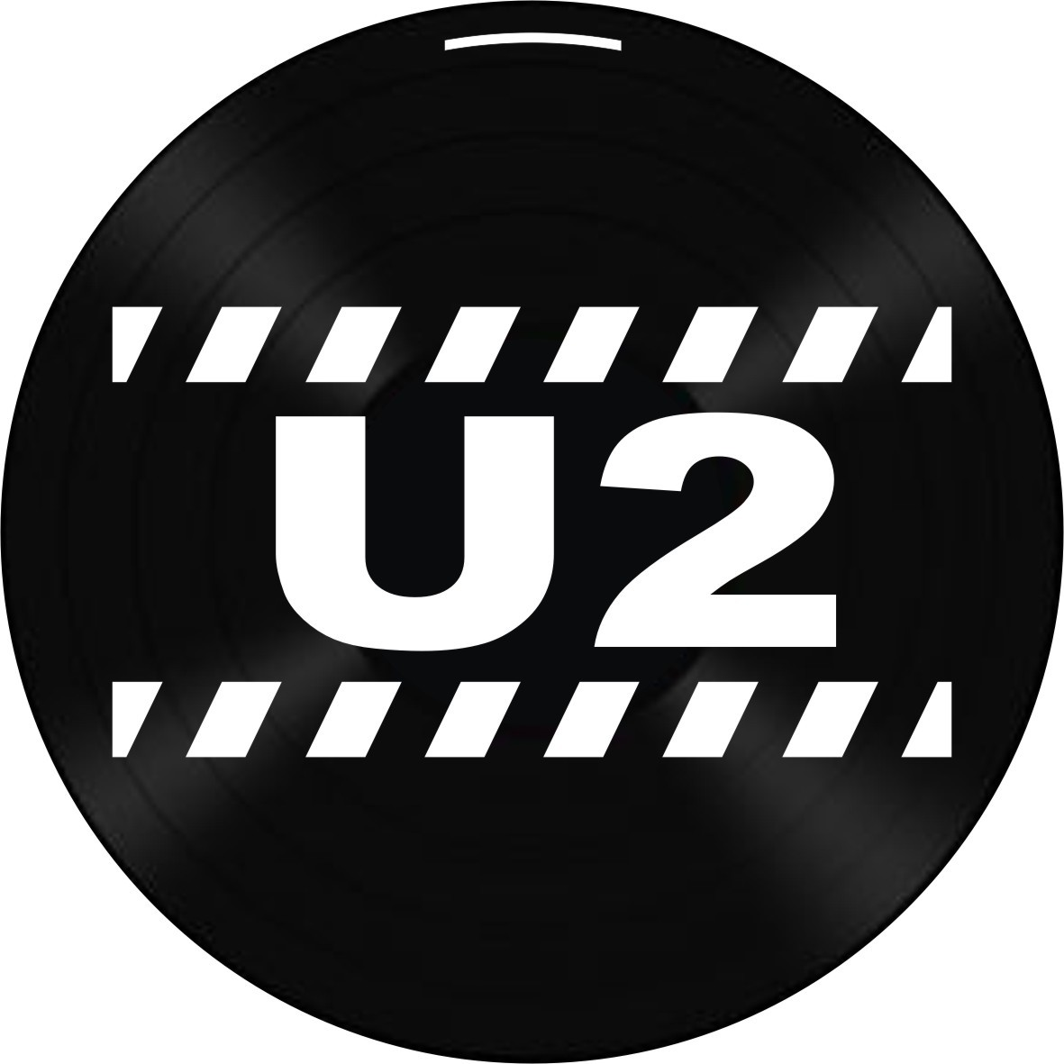 Disco de Vinil Decorativo U2