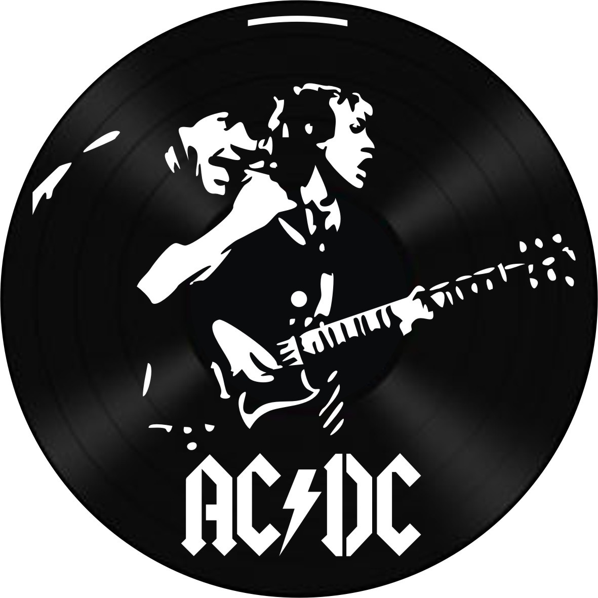Disco de Vinil Decorativo AC/DC