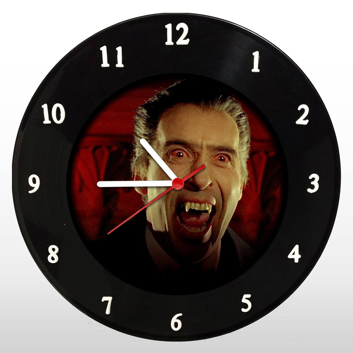 Drácula - Christopher Lee - Relógio de Parede em Disco de Vinil - Mr. Rock