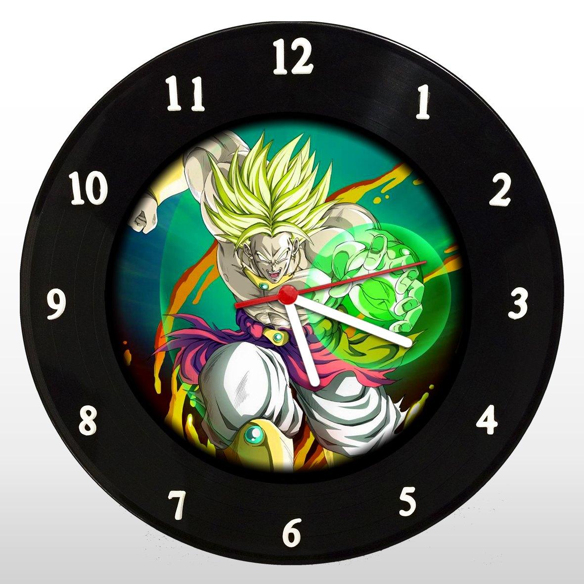Dragon Ball - Broly - Relógio de Parede em Disco de Vinil - Mr. Rock