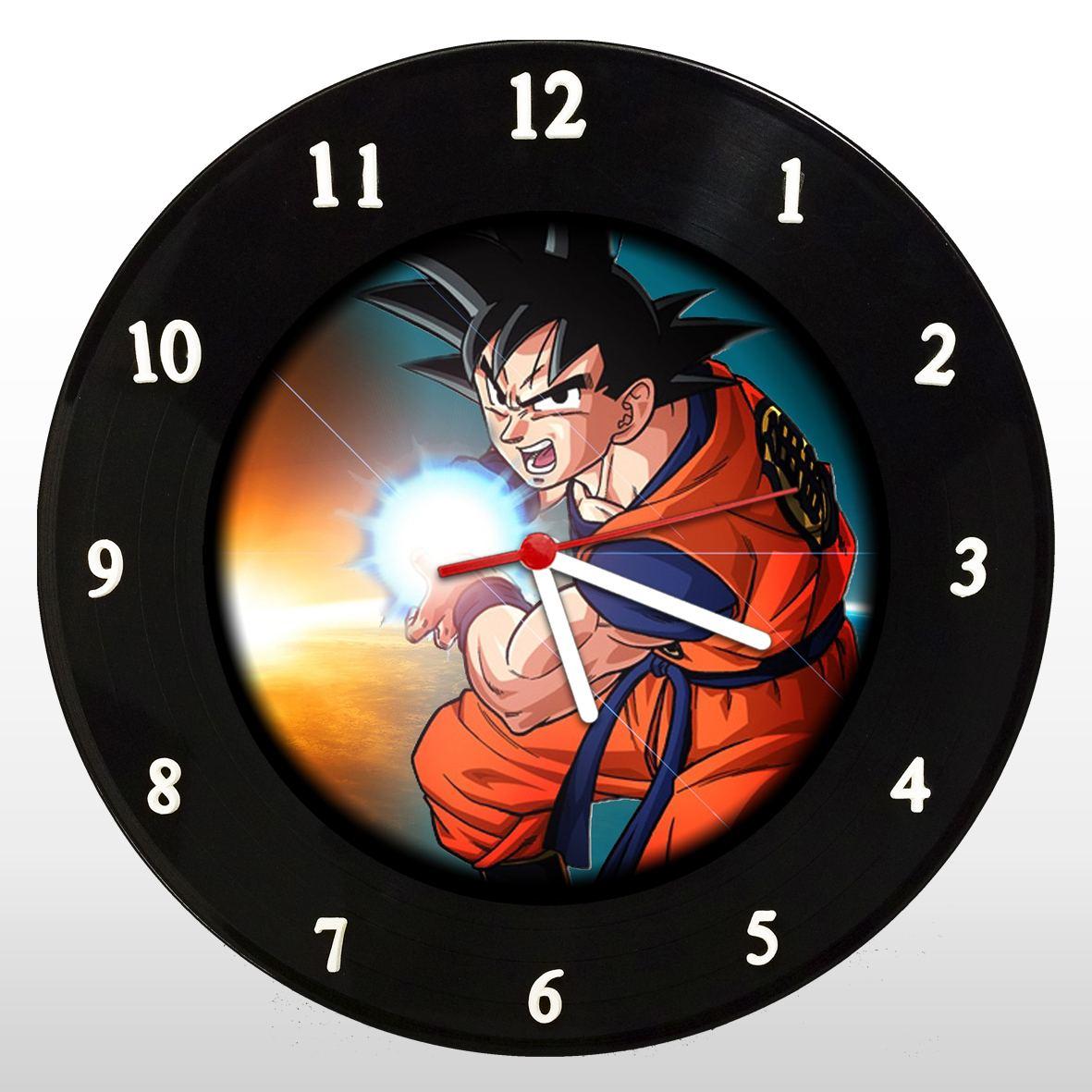Dragon Ball - Goku - Relógio de Parede em Disco de Vinil - Mr. Rock