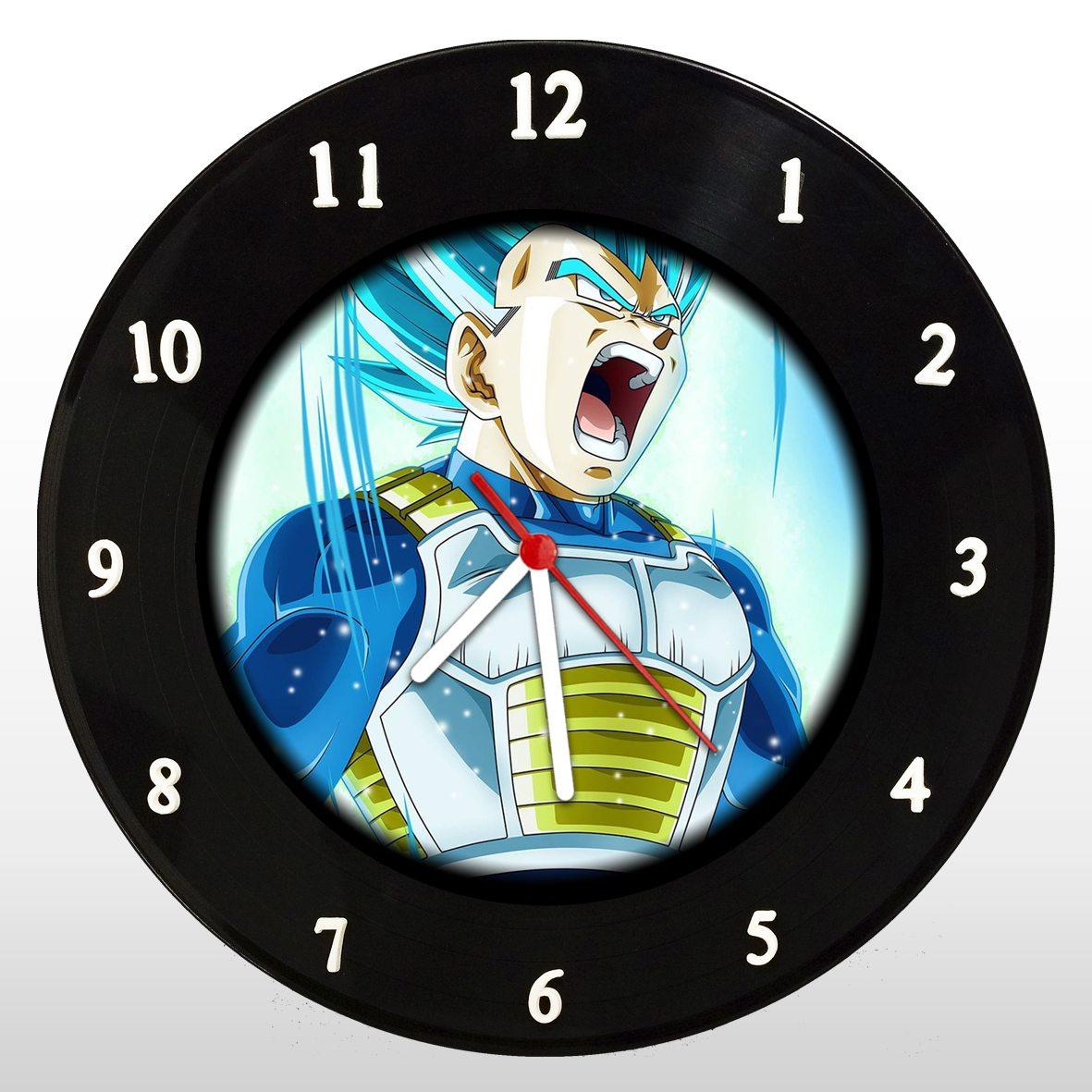 Dragon Ball - Vegeta - Relógio de Parede em Disco de Vinil - Mr. Rock