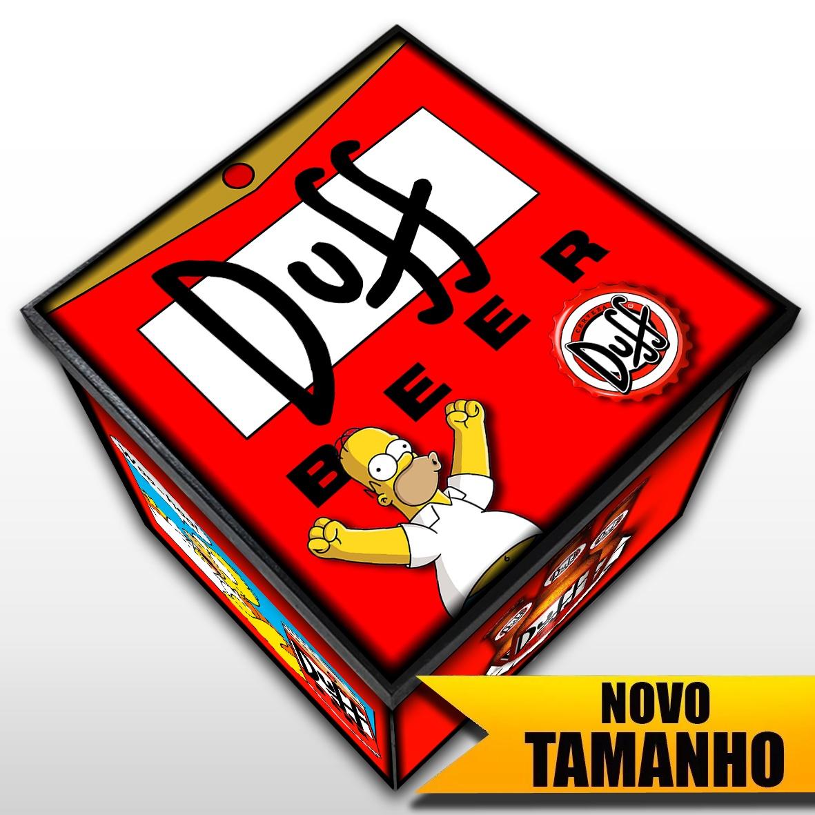 Duff - The Simpsons - Caixa Decorativa em MDF - Tamanho Grande - Mr. Rock