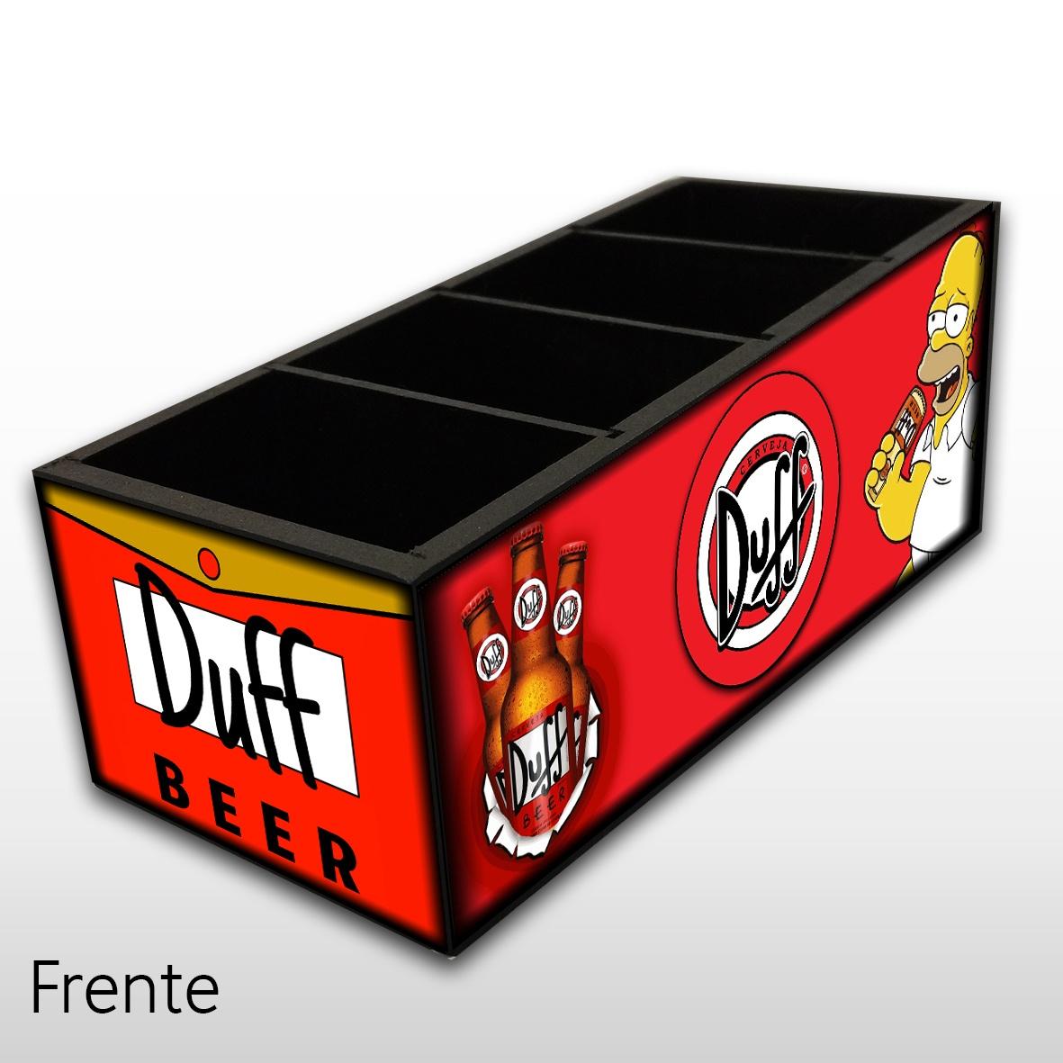 Duff - The Simpsons - Porta Controles em Madeira MDF - 4 Espaços - Mr. Rock