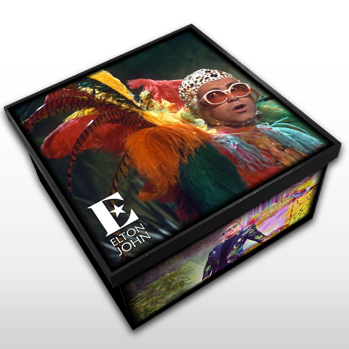 Elton John - Caixa Organizadora em Madeira MDF - Tamanho Médio - Mr. Rock