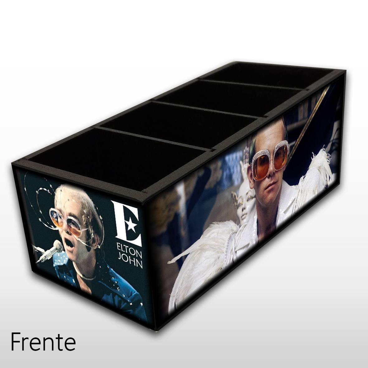 Elton John - Porta Controles em Madeira MDF - 4 Espaços - Mr. Rock