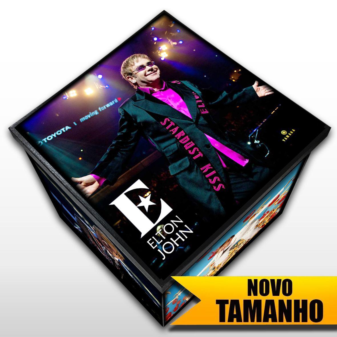 Elton John - Caixa Em Madeira MDF - Tamanho Grande - Mr. Rock