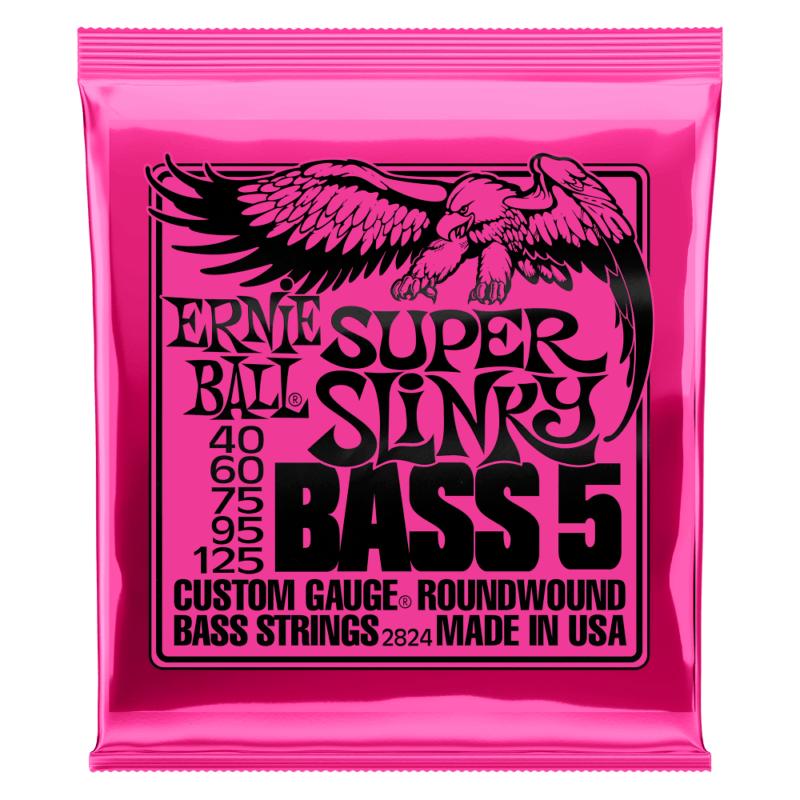 Encordoamento 040 -125 para Baixo 5 Cordas Super Slinky Niquel P02824 Ernie Ball
