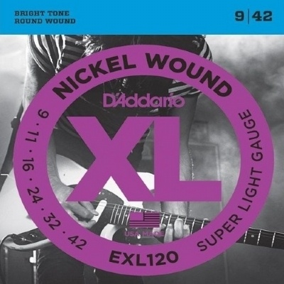 Cordas para Guitarra Encordoamento D'ADDARIO EXL120-B 0.09-0.042