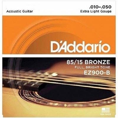 Encordoamento D'ADDARIO EZ900-B 0.10-0.50 Para Violão Aço