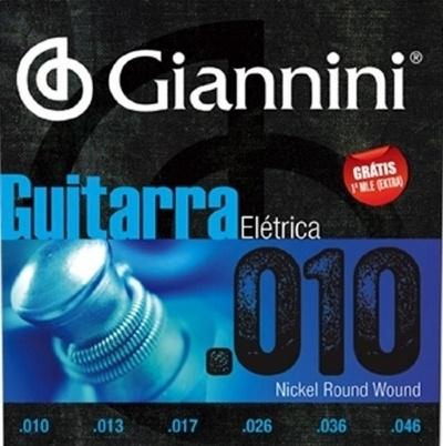 Cordas para Guitarra Encordoamento GIANNINI 0.10-0.46