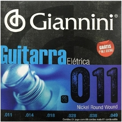 Cordas para Guitarra Encordoamento GIANNINI 0.011-0.049