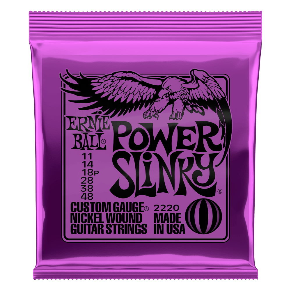 Cordas para Guitarra Encordoamento 011 - 048 Power Slinky 2220 Ernie Ball