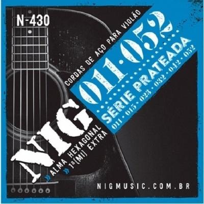 Cordas para Violão de Aço Encordoamento NIG N-430 0,11-0,52