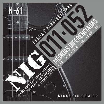 Cordas para Guitarra Encordoamento NIG N-61 011-0.52