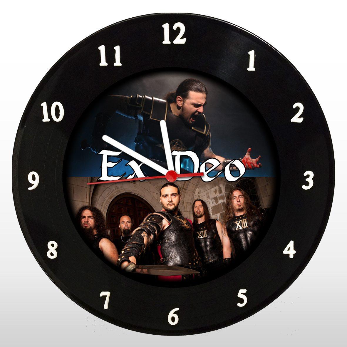 Ex Deo - Relógio de Parede em Disco de Vinil - Mr. Rock