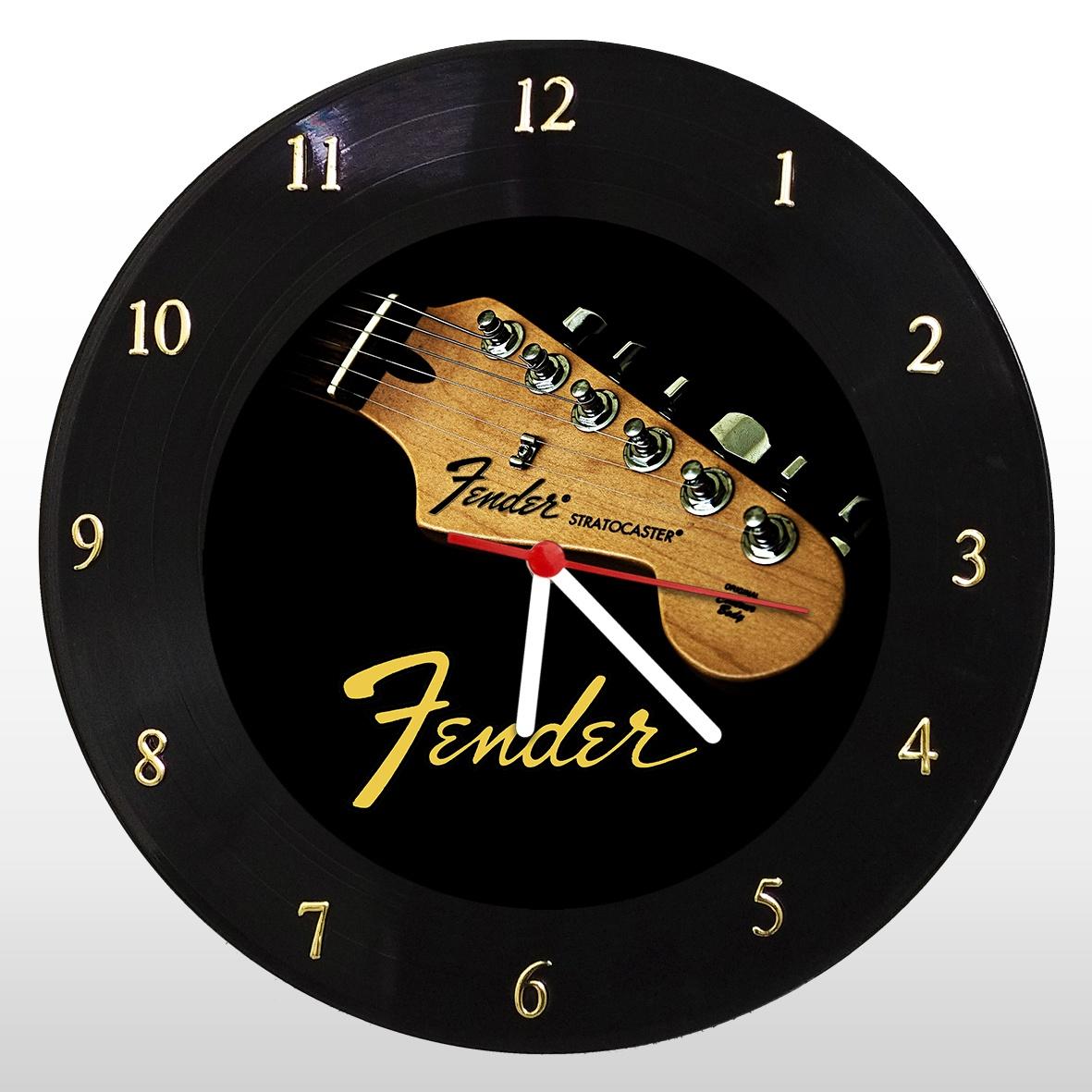 Fender - Relógio de Parede em Disco de Vinil - Mr. Rock