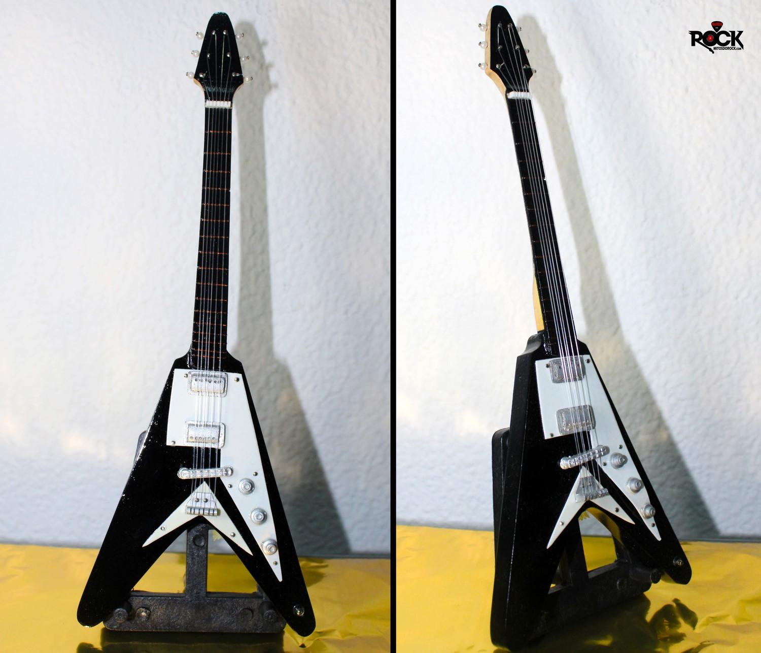 Flying V - Guitarra Realista em Miniatura
