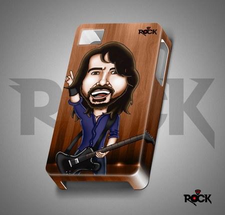 Capa de Celular Exclusiva Mitos do Rock Foo Fighters