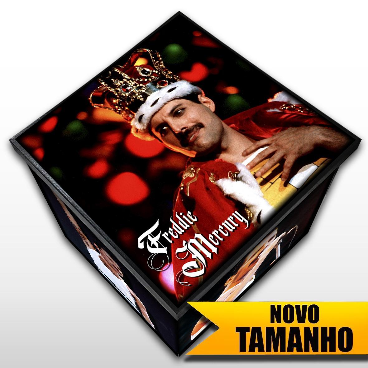 Freddie Mercury - Queen - Caixa em MDF - Tam. Grande - Mr. Rock