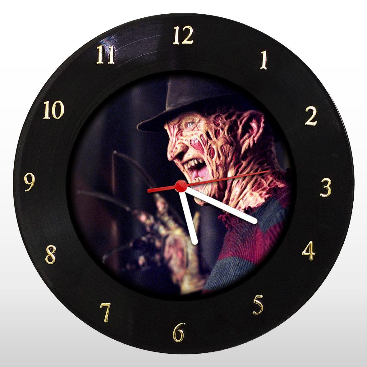 Freddy Krueger - Relógio de Parede em Disco de Vinil - Mr. Rock