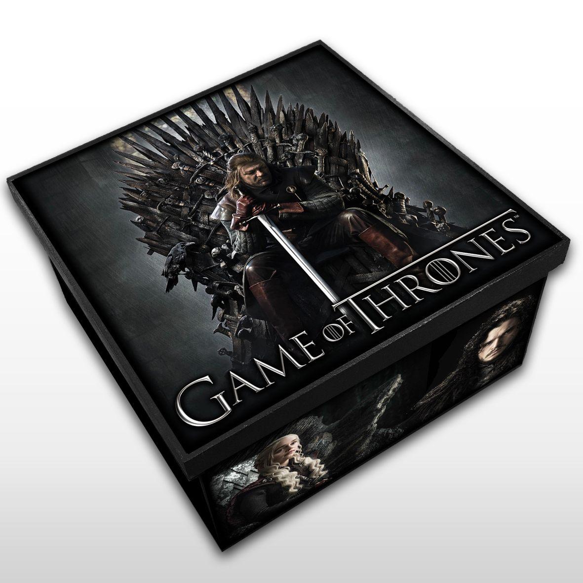 Game of Thrones - Caixa em Madeira MDF - Tamanho Médio - Mr. Rock