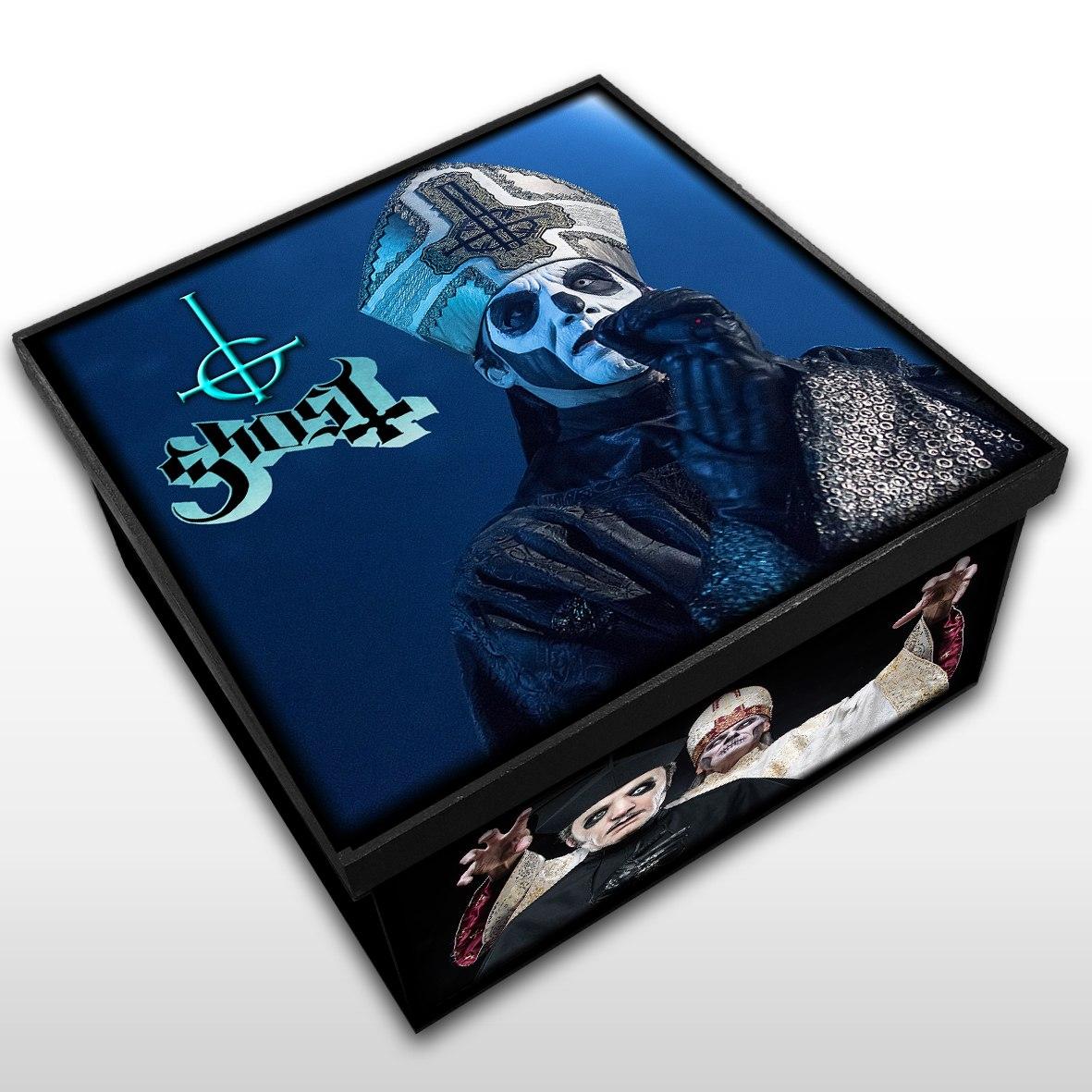 Ghost - Caixa Organizadora em Madeira MDF - Tamanho Médio - Mr. Rock