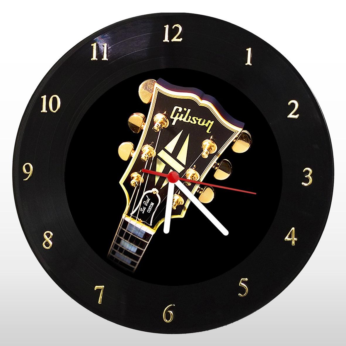 Gibson - Relógio de Parede em Disco de Vinil - Mr. Rock