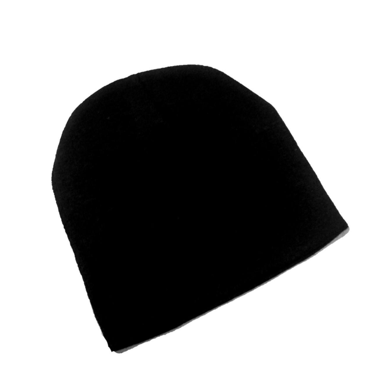 Gorro de lã Touca unissex  liso preto