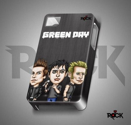 Capa de Celular Exclusiva Mitos do Rock Green Day