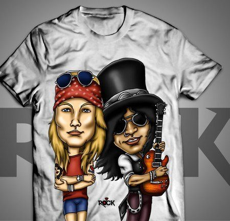 Camiseta Exclusiva Mitos do Rock Guns n Roses II