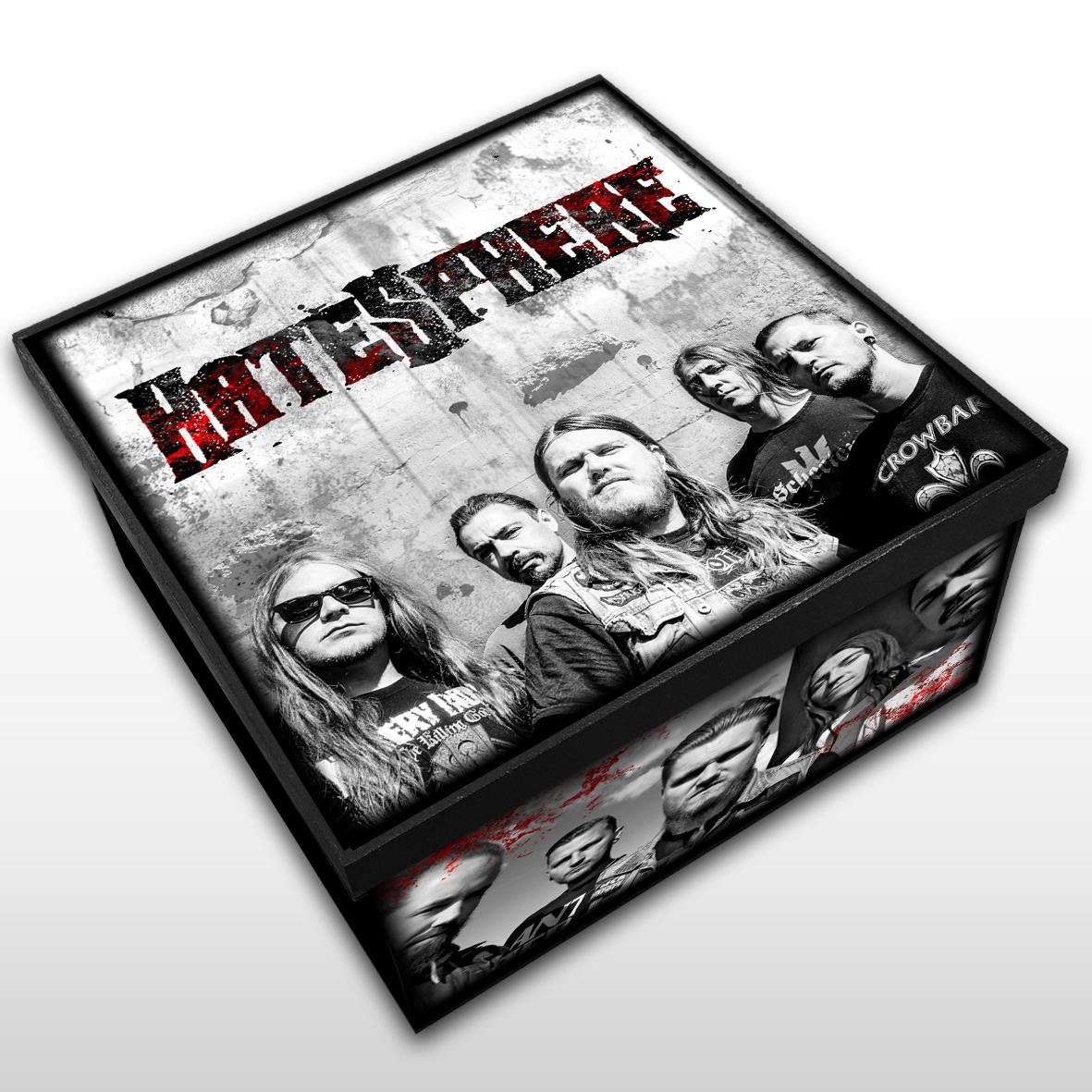 HateSphere - Caixa Organizadora em Madeira MDF - Tamanho Médio - Mr. Rock