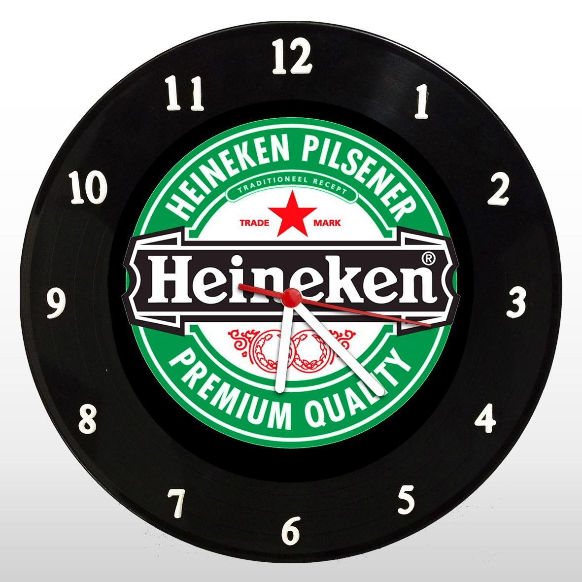 Heineken - Relógio de Parede em Disco de Vinil - Mr. Rock