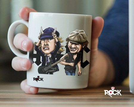 Caneca Exclusiva Mitos do Rock AC/DC