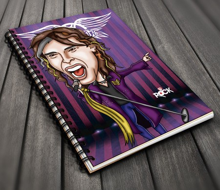 Caderno Exclusivo Mitos do Rock Aerosmith
