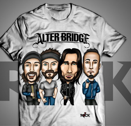 Camiseta Exclusiva Mitos do Rock Alter Bridge