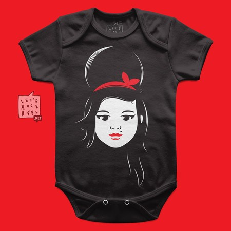 Body Infantil Let's Rock Baby Amy Winehouse Baby