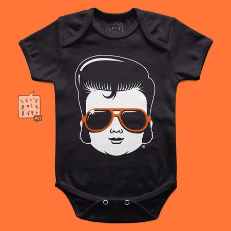 Body Infantil Let's Rock Baby Baby Elvis