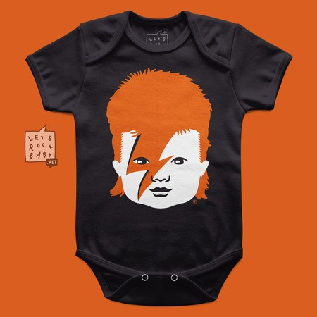 Body Infantil Let's Rock Baby David Bowie Baby