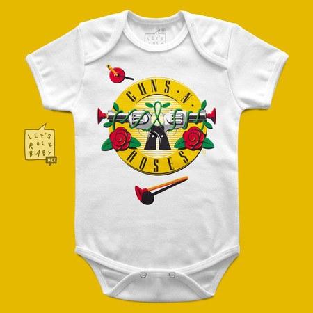 Body Infantil Let's Rock Baby Guns 'n' Roses Arminha