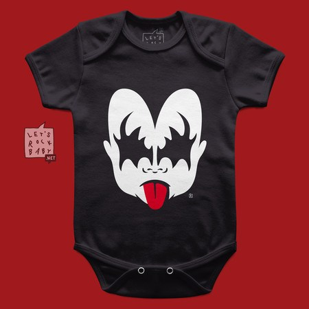 Body Infantil Let's Rock Baby Kiss Menino