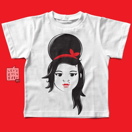Camiseta Infantil Let's Rock Baby Amy Winehouse Baby